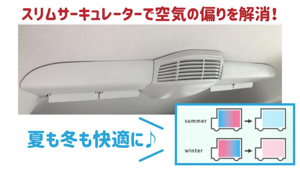 スリムサーキュレーターで空気の偏りを解消